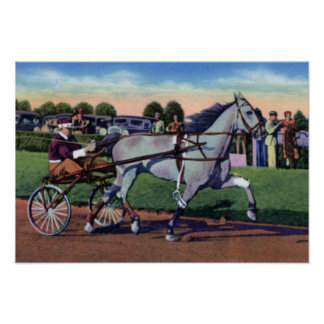 Lexington Kentucky Trotter Champion Greyhound Poster