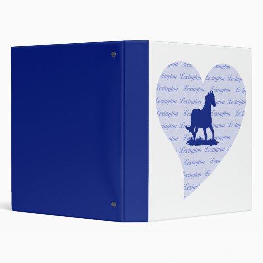 Lexington KY Horse Vinyl Binder