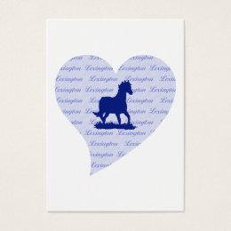 Lexington KY Horse Business Card