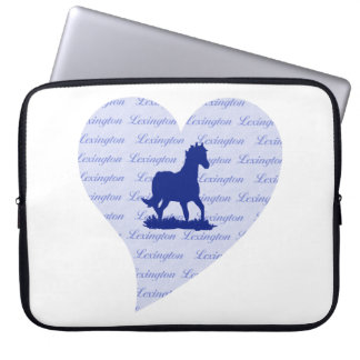 Lexington KY Horse Racing Heart Computer Sleeve