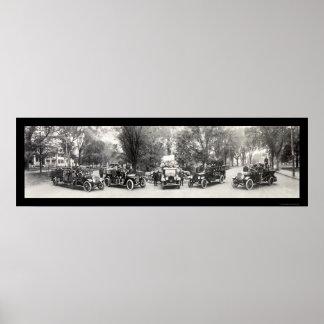 Lexington MA Fire Dept Photo 1921 Print