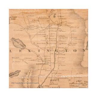 Lexington, Maine - 1860 Map Canvas Print