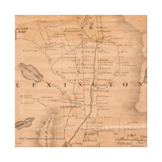 Lexington, Maine - mapa 1860 Impresión En Lienzo