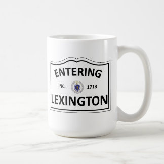 LEXINGTON MASSACHUSETTS Hometown Mass MA Townie Coffee Mug