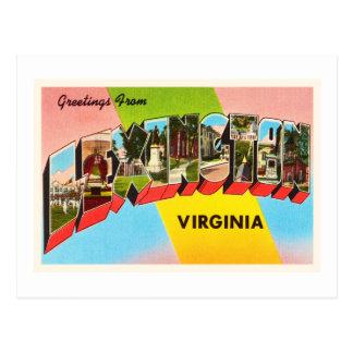 Lexington Virginia VA Old Vintage Travel Postcard- Postcard