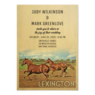 Lexington Wedding Invitation Kentucky Horses