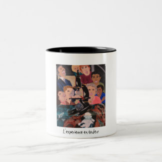 L'experience en douleur grande tasse Two-Tone coffee mug