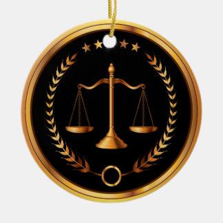 Ley, abogado, escalas de la justicia - SRF Adorno Redondo De Cerámica