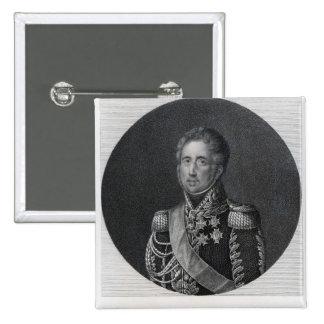 Ley de Jacques, Marquis de Lauriston Pin Cuadrado