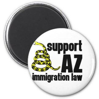 ley de la inmigración de la ayuda AZ Imán Redondo 5 Cm