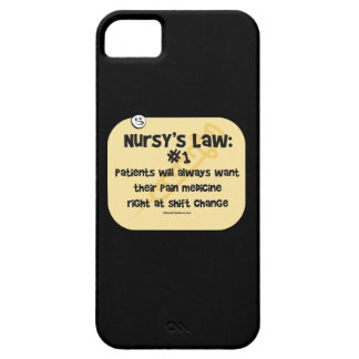 Ley de las enfermeras - medicinas del dolor iPhone 5 Case-Mate coberturas