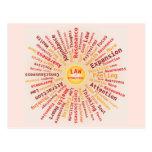 Ley de los colores amarillo-naranja de la nube de tarjeta postal