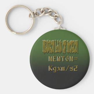 Ley de neutonio clásica étnica del movimiento llavero redondo tipo pin