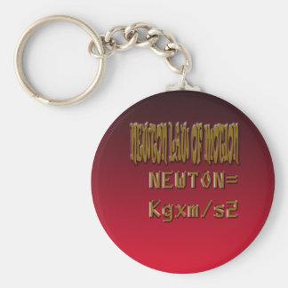 Ley de Newton del metal del movimiento Llavero Redondo Tipo Pin