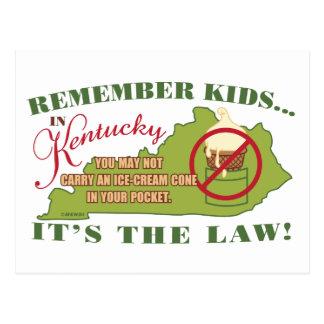 Ley del helado de Kentucky Tarjetas Postales