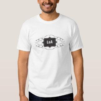 Ley del logotipo de la atracción camisas