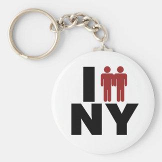 Ley del matrimonio homosexual de Nueva York Llavero Redondo Tipo Pin
