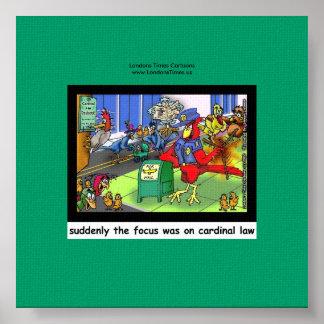 Ley divertida de la ley cardinal o impresión de la posters
