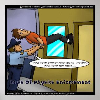 Ley Enforcemen del poster divertido de la física