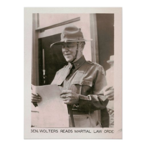 Ley marcial pedida, Kilgore, TX 1931 Poster