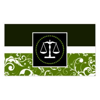 ley profesional: escalas de la justicia del tarjetas de visita
