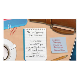 Ley tarjeta de visita del trabajo de oficina