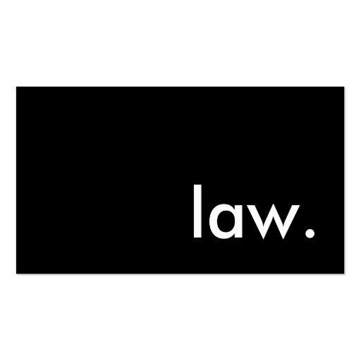ley tarjetas personales
