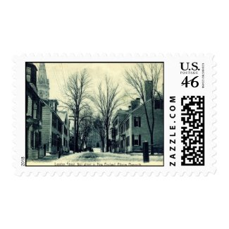 Leyden St Pilgrim Plymouth MA c1908 stamp