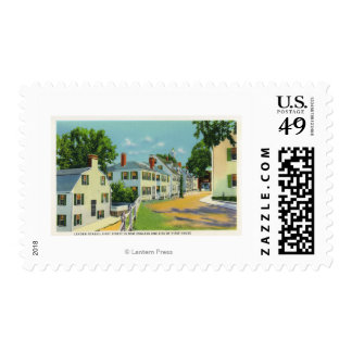 Leyden Street View, First Street in New England Postage