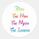 Leyenda 03 del mito del hombre del papá etiquetas redondas