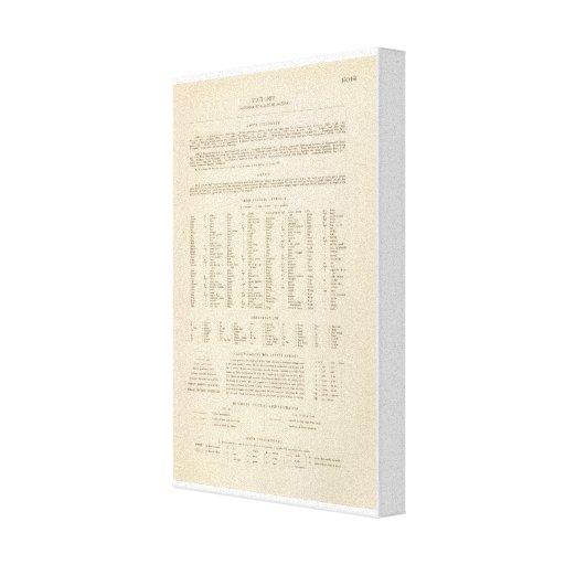 Leyenda 14041 Calif, Nev, Utah, Ariz Impresión En Lienzo Estirada
