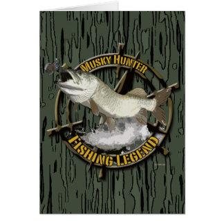 Leyenda almizclada del cazador tarjeta de felicitación