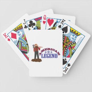 Leyenda americana baraja de cartas