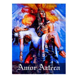 Leyenda azteca mexicana Iztaccihuatl Popocatepetl Postal