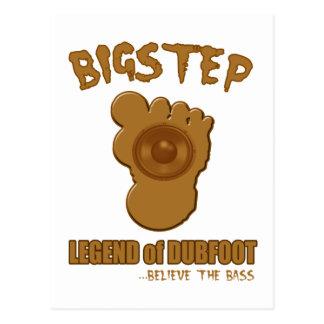 Leyenda de Bigstep de Dubfoot BIGFOOT DIVERTIDO Postal