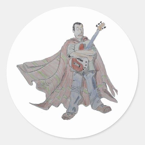 Leyenda de la guitarra que lleva un cabo etiquetas