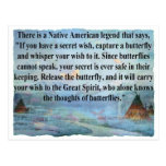 Leyenda de la mariposa tarjeta postal