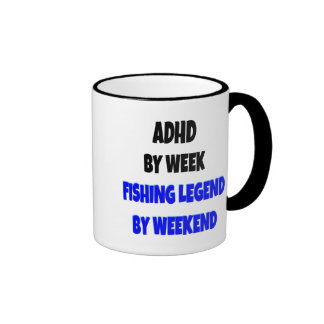 Leyenda de la pesca de ADHD Taza De Dos Colores