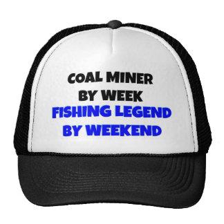 Leyenda de la pesca del minero de carbón gorras de camionero