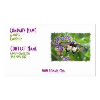 Leyenda de la tarjeta de visita de las mariposas