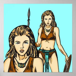 Leyenda de las mujeres del Amazonas Impresiones