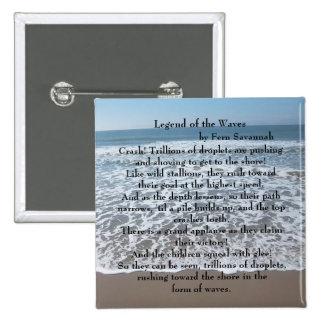 Leyenda de las ondas - sabana del helecho; chapa cuadrada 5 cm