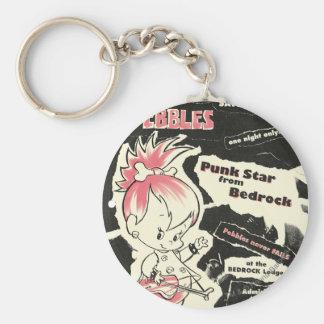 Leyenda de punk rock de PEBBLES™ Llavero Redondo Tipo Pin