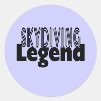 Leyenda de Skydiving Pegatinas Redondas