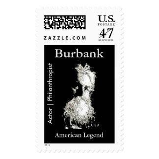 Leyenda del americano del filántropo del actor de timbre postal