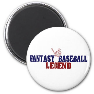 Leyenda del béisbol de la fantasía (2009) imán redondo 5 cm