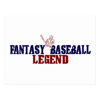 Leyenda del béisbol de la fantasía (2009) postal