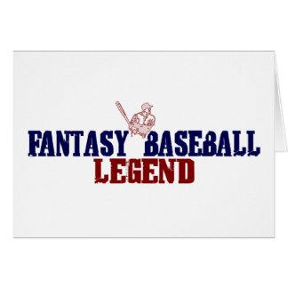 Leyenda del béisbol de la fantasía (2009) tarjeta de felicitación