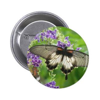 Leyenda del botón de las mariposas pin redondo de 2 pulgadas
