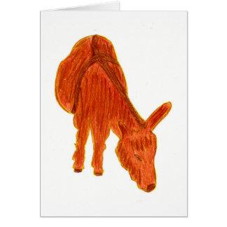 Leyenda del burro tarjeta de felicitación